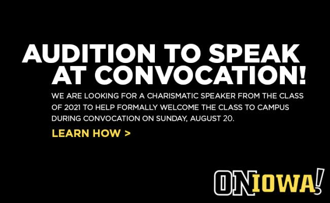 Audition to Speak at Convocation